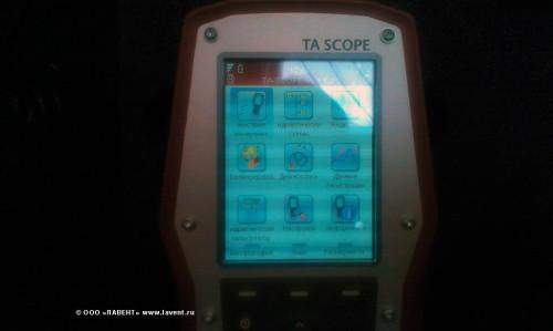 TA scope menu