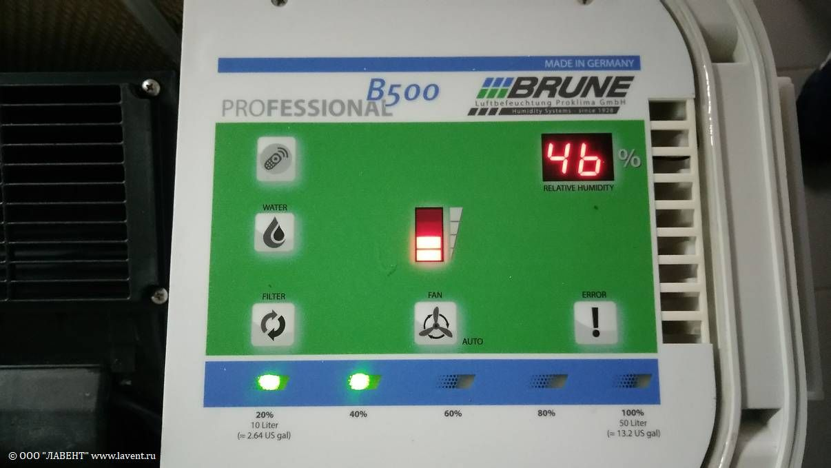 Панель управления Brune B500